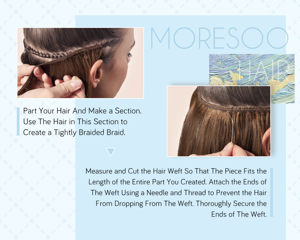 how to wear weft hair
