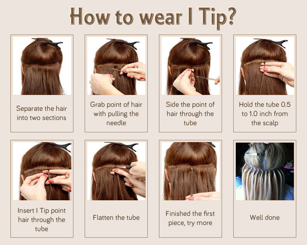 how to wear i tip hair extension