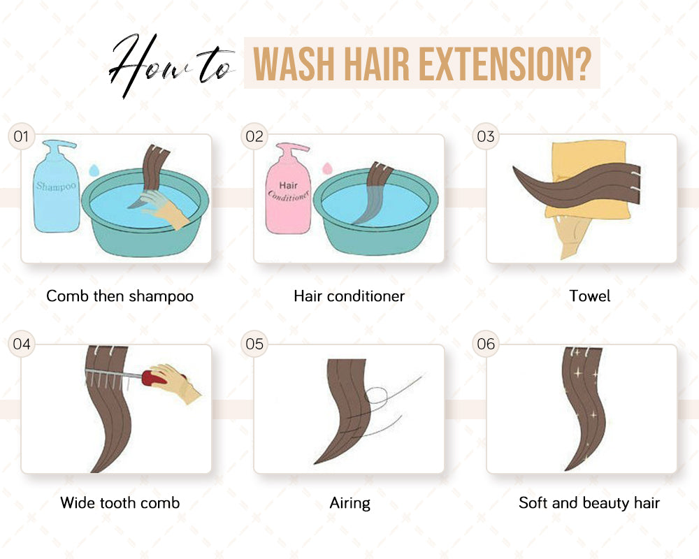 how to wear hair extension