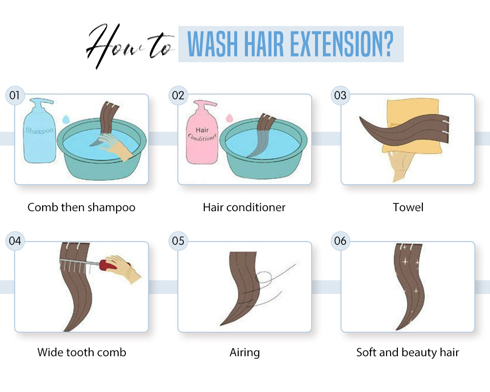 how to wash hair extension
