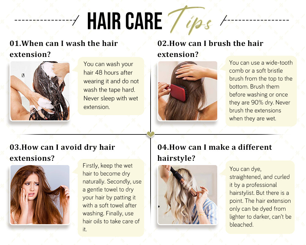 how to care hair extension