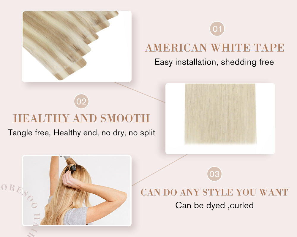 highlight real tape extension 16 inch