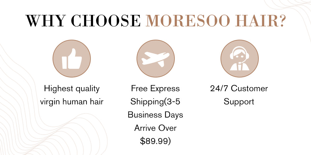 Moresoo human real hair tape extensions