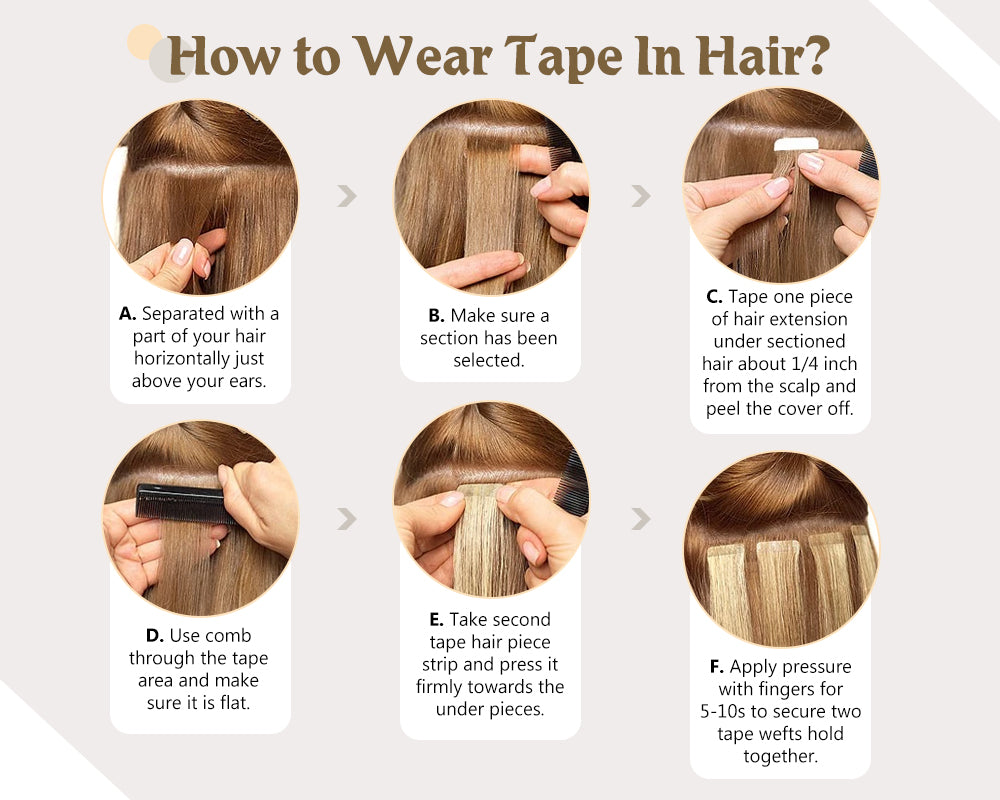 how to wear tape in hair extensions