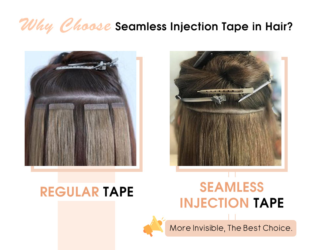 the difference of seamless injection tape with regular tape
