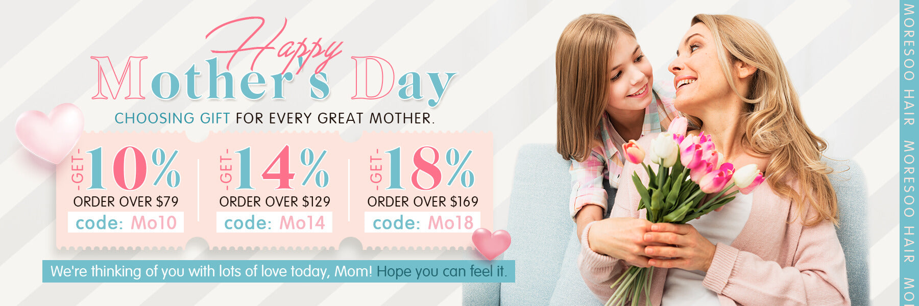 Happy Mother's Day Big Sale for Mother Remy Human Hair double weft hair bundle