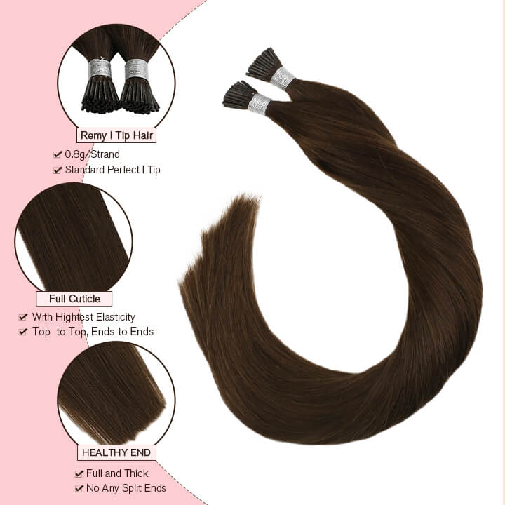 brown i tip hair extensions