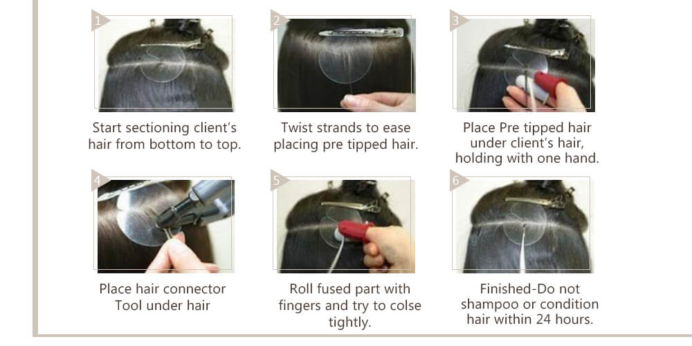 How to wear virgin Flat Tip Hair Extensions?