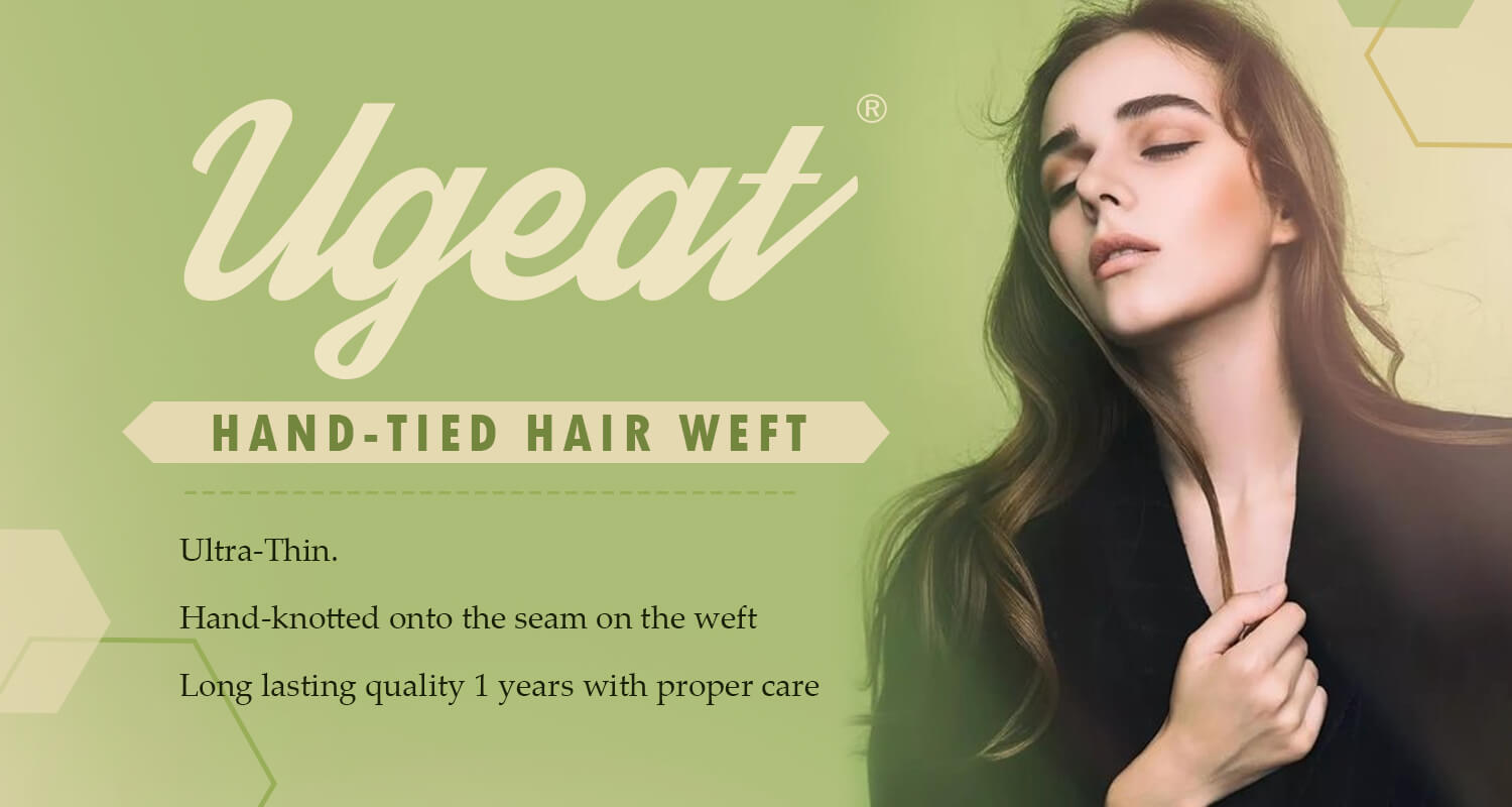 Ugeat Hand tied hair weft extension