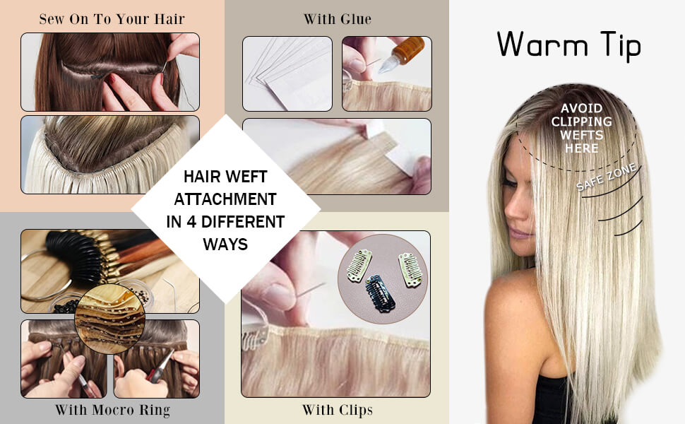 How to wear hair weft