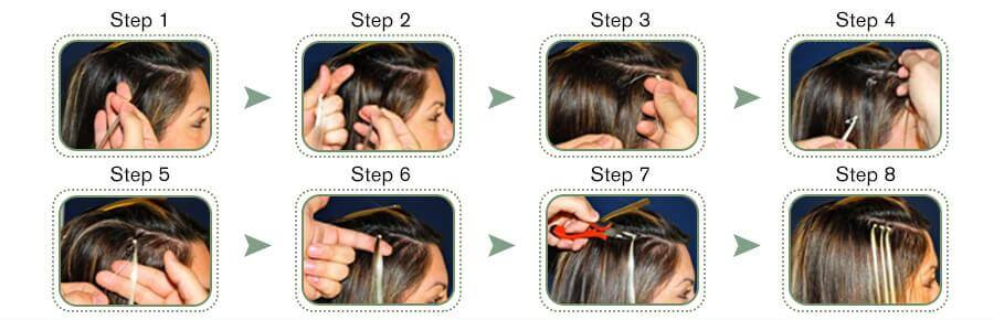 hoew to apply micro ring hair extensions