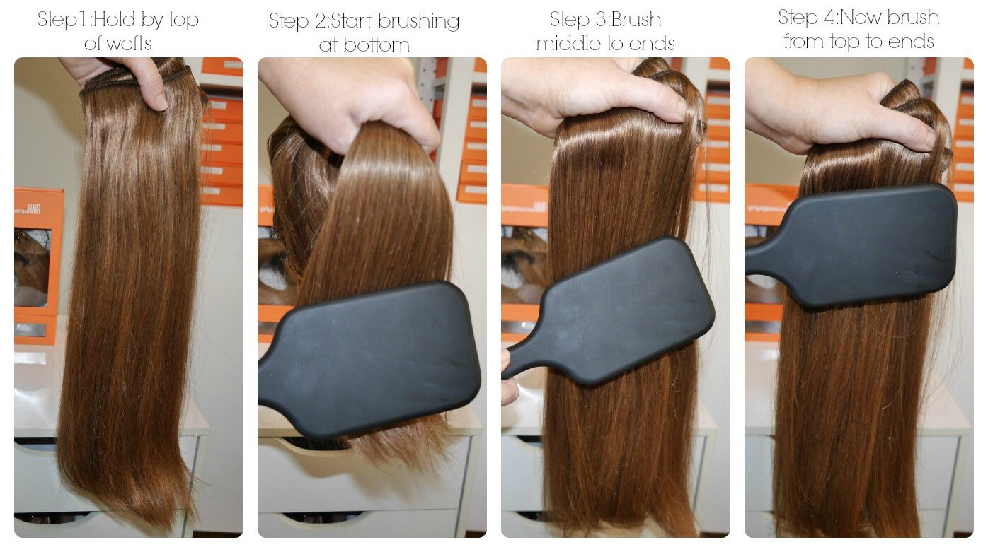How to brush hair extensions