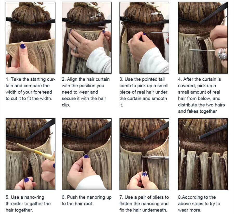 How to wear our hair weft