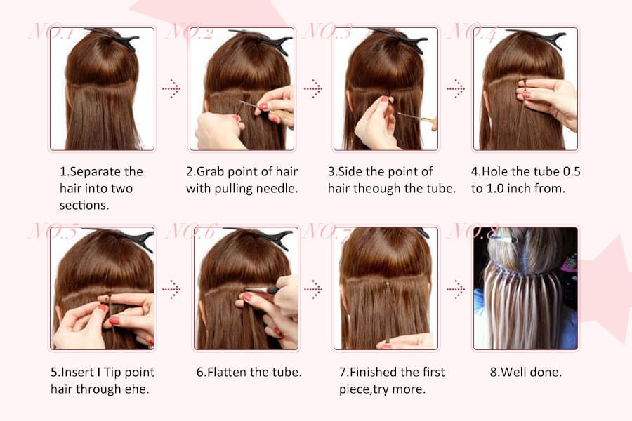 how to wear i tip hair extensions