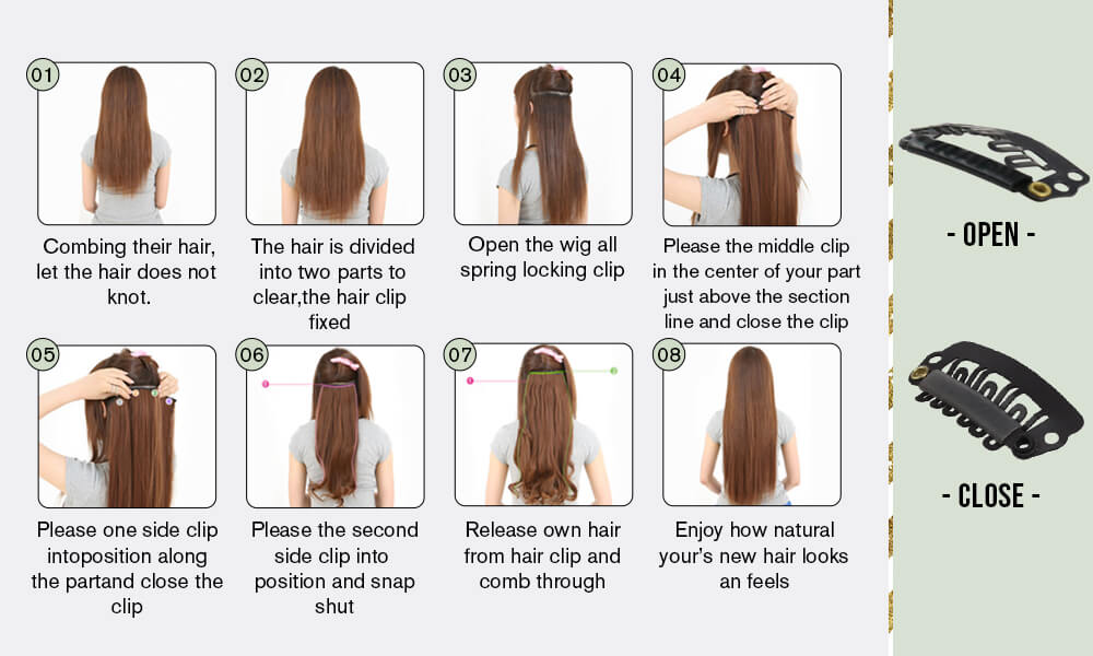 how to wear clip in extensions