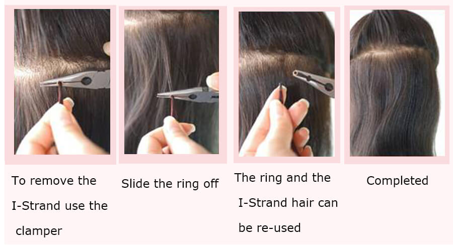 How to remove i tip hair extensions