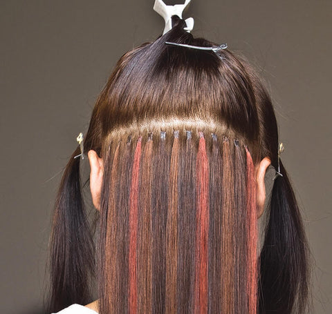 use hair extensions to add hair color