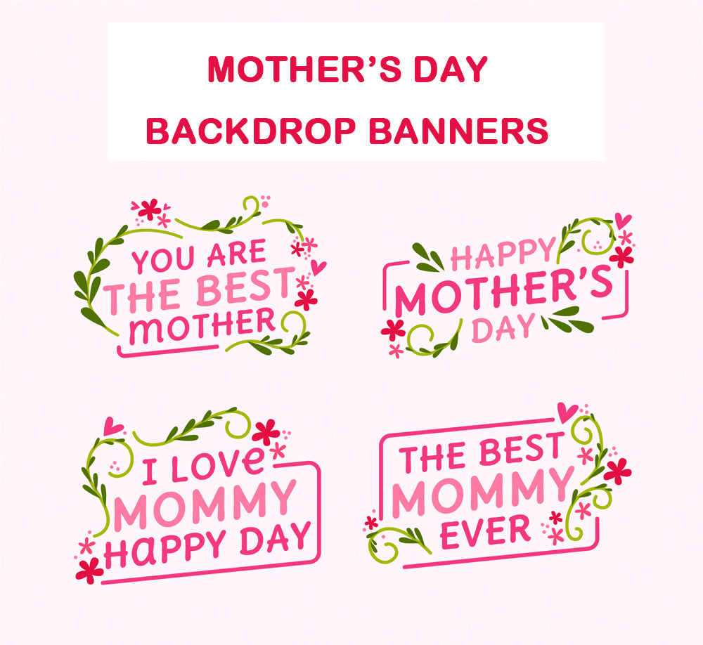 mother's day message backdrop banner