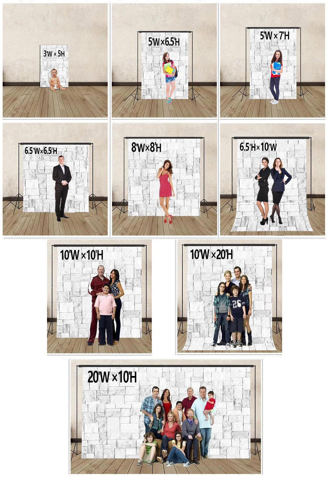 the best size for a photography backdrop