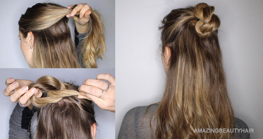 Bump it Up with a High Half Updo