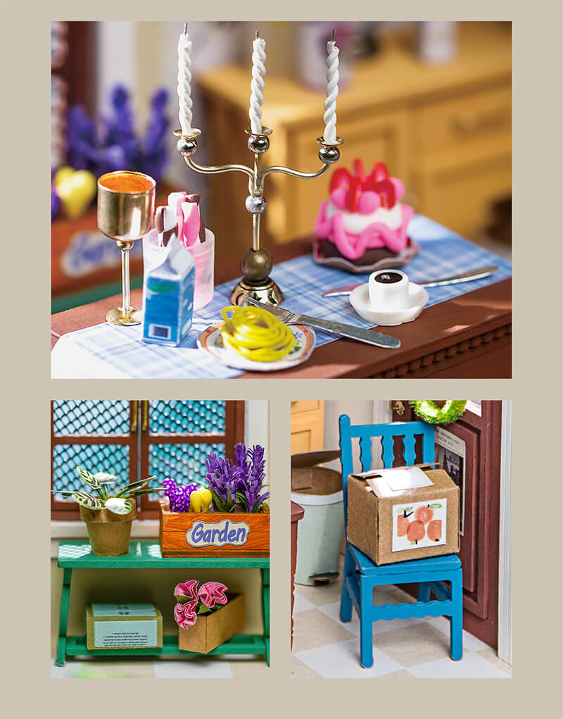 Robotime DGM09 Charlie's Dining Room DIY Miniature Dollhouse Kit