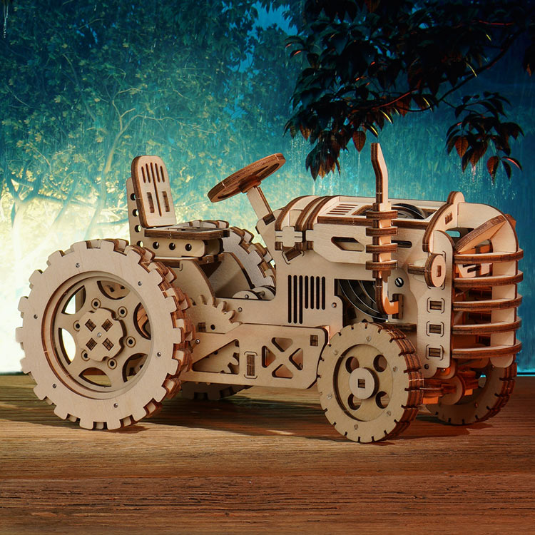 Robotime LK401 Tractor - Mechanical Puzzle Car Model