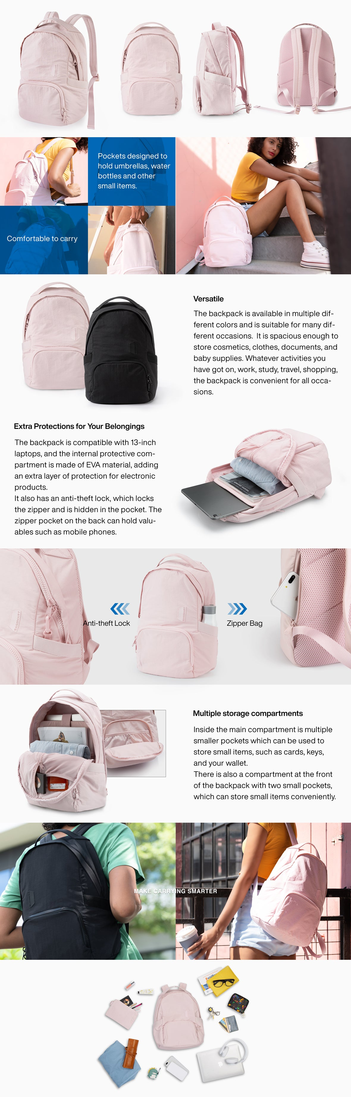 Zoraesque Style Backpack   Bagsmart 2020SS