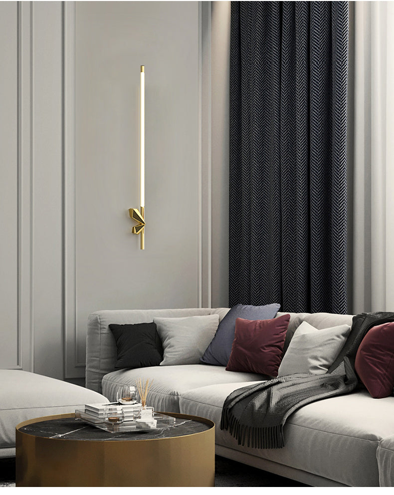 New Nordic, copper bedroom bedside wall lamp, living room simple modern balcony, outdoor creative light luxury lamps