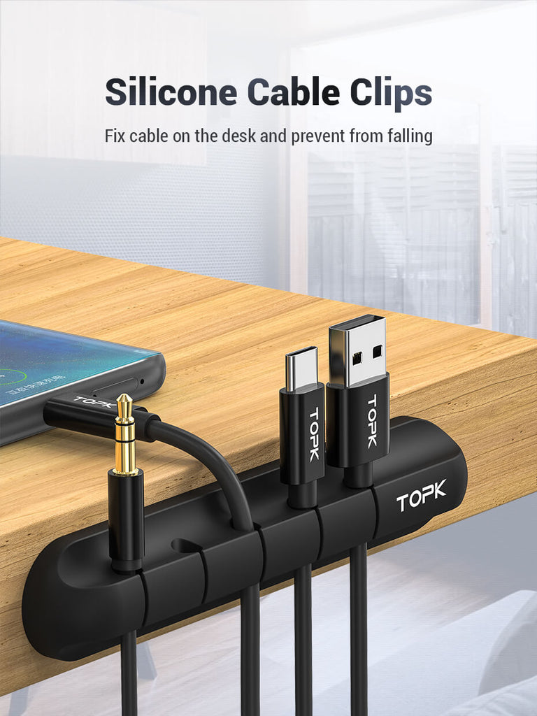 TOPK L16 Magnetic USB Cable Organizer