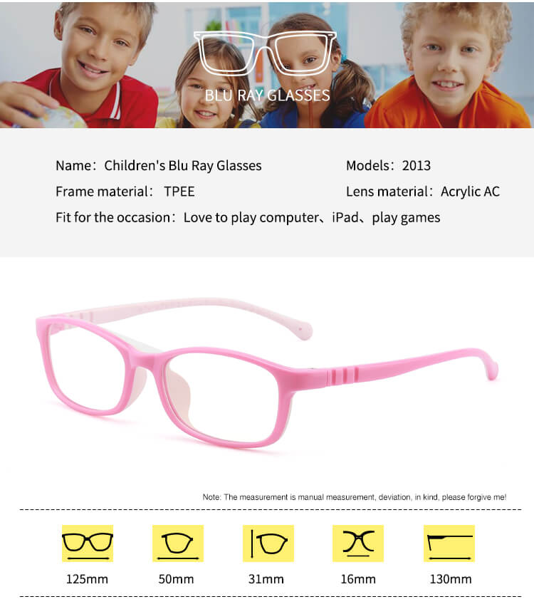 children's blu ray glasses size