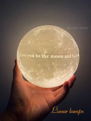 I love you to the moon and back moon moon lamp
