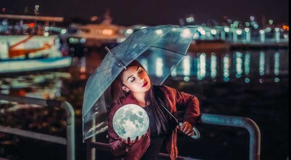 Moon Lamp Photography Prop - Attracts The Viewer's Attention