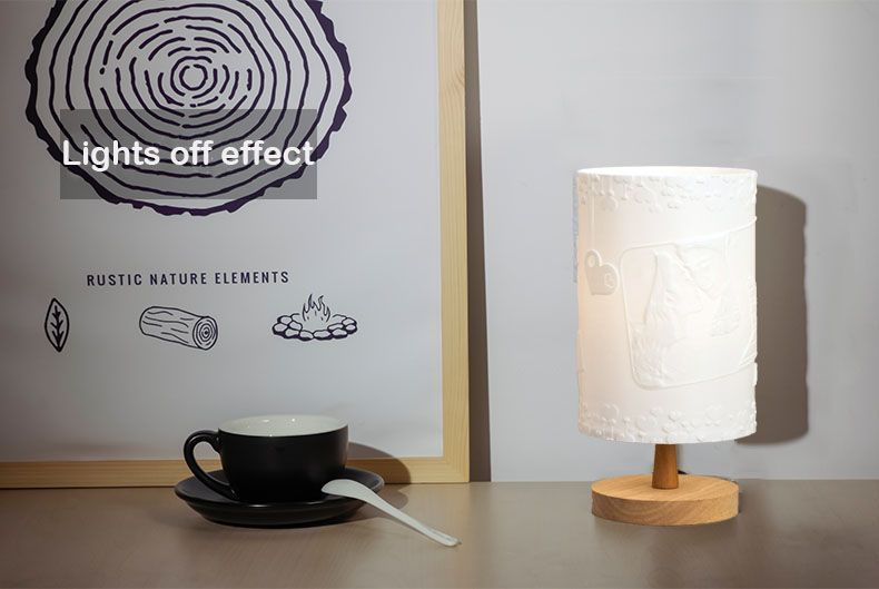 Engraved Photo Table Lamp