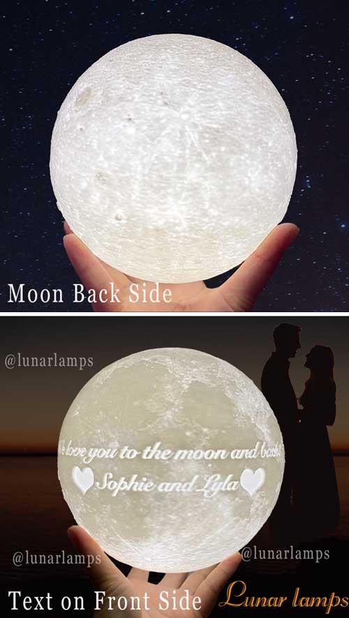 photo moon front and back text and emoji