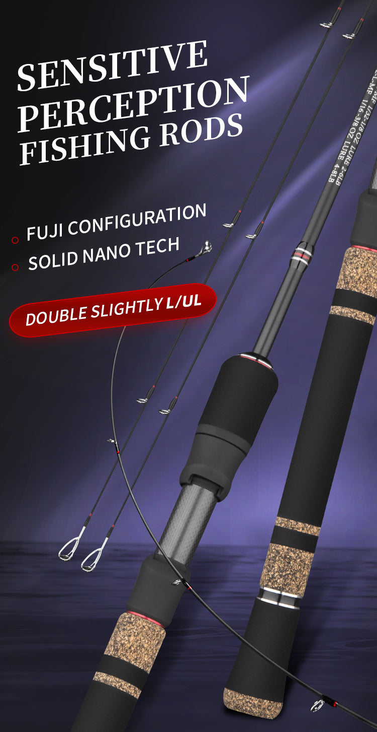 goofish trout fishing rod with two tip