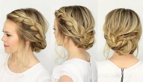 Back to School hairstyle Half up knot top knot