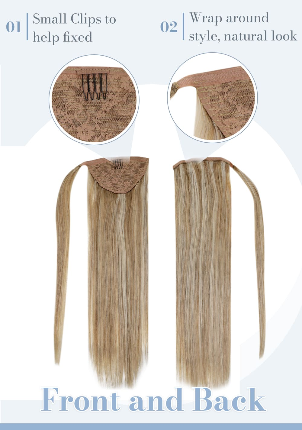 12 24 laavoo remy ponytail human hair extensions seamless invisible can be last for a long time the best quality huma n hair