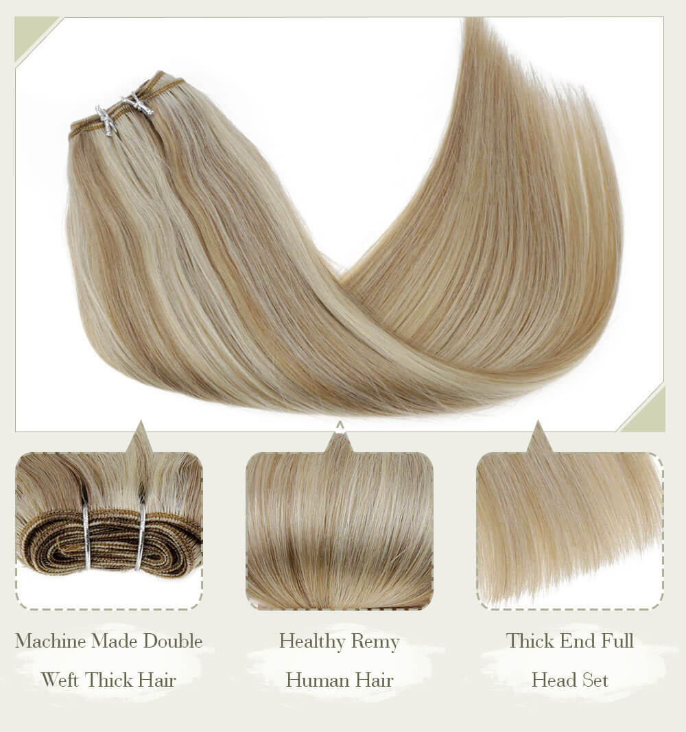balayage dark color fading color machine made double weft thick hair healthy remy human hair thick end full head set