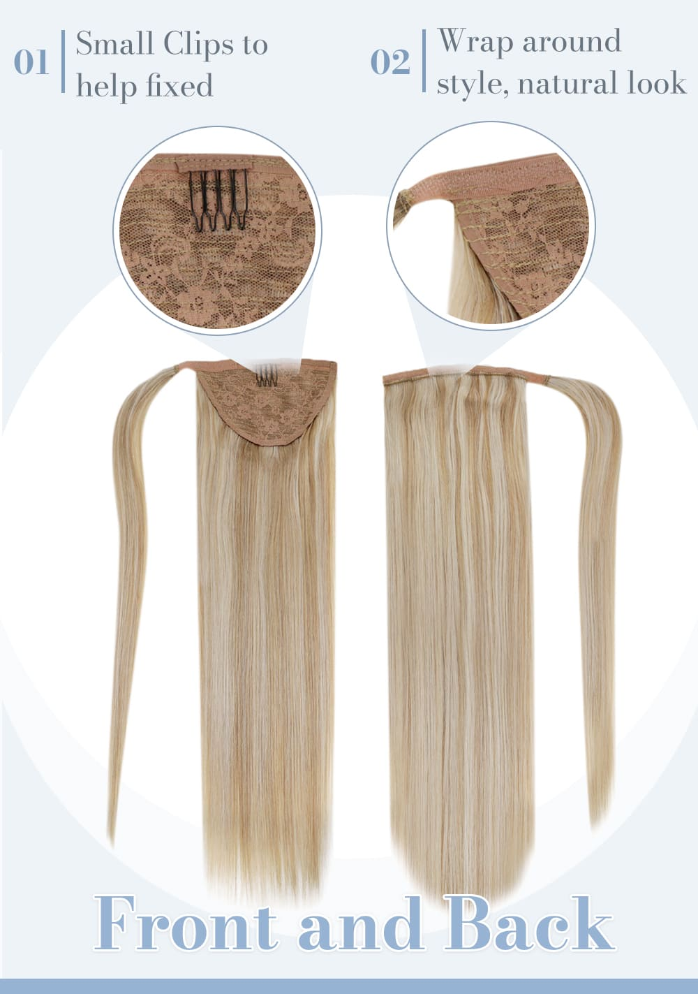 18 613 laavoo highlight color ash blonde mixed bleach blonde human hair extensions can be last 3 to 6 months real human hair extensions