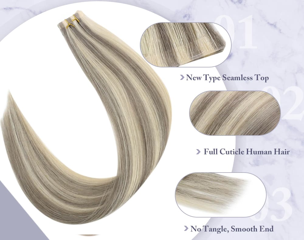 #19a 60 pure virgin tape in human hair extensions seamless and injection 100% Brazilian virgin quality human hair