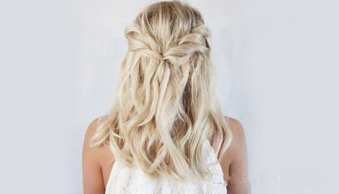 Back to school hair style Twisted half-hair updo