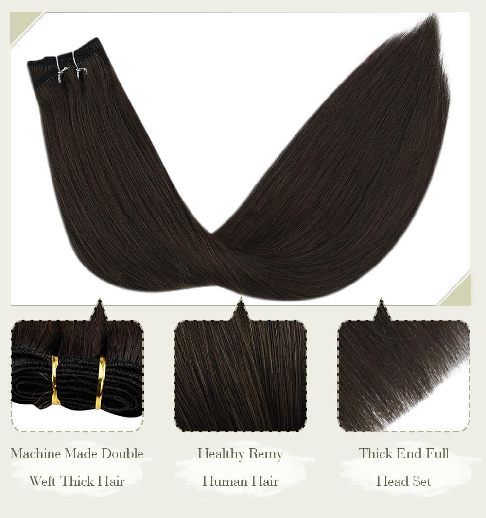 olid blonde hair fading color machine made double weft thick hair healthy remy human hair thick end full head set