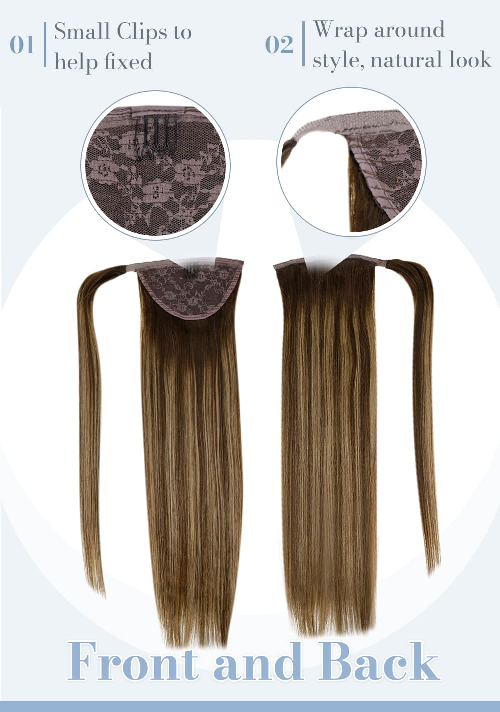 4 27 4 laavoo remy ponytail human hair extension can be dyed and straighten soft smooth and natural human hair extensions high quality hair