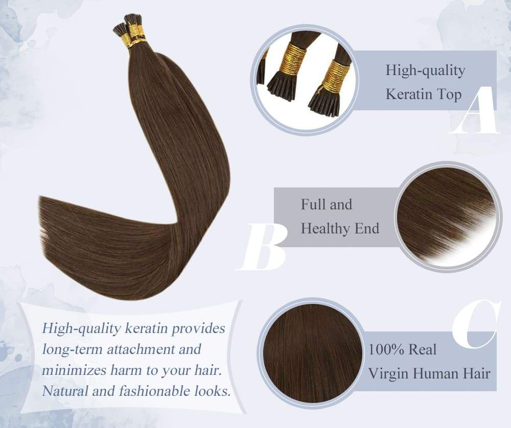 laavoo virgin i tip human hair pre bonded silky straight human hair extensions can last for 3-6 months blend well with your hair