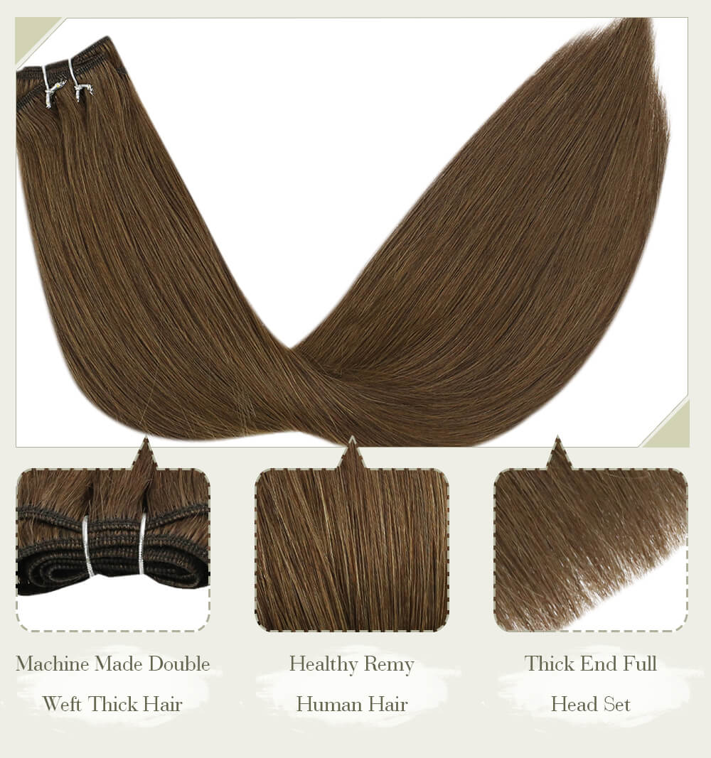 solid blonde hair fading color machine made double weft thick hair healthy remy human hair thick end full head set