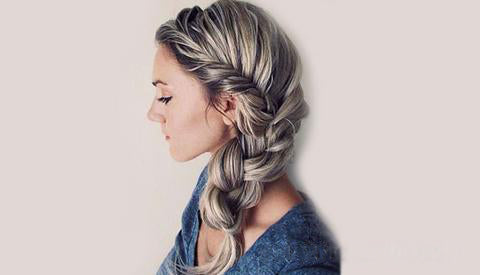 Back to school hairstyle Braided side bun
