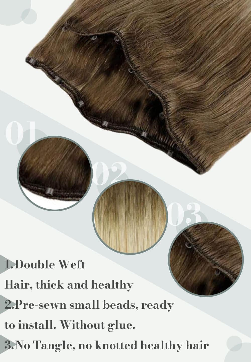#8 59 balayage blonde hair color micro hair weft human hair extensions can be dyed and straighten
