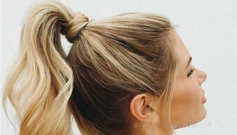 Back to School Hairstyle A wrap around ponytail
