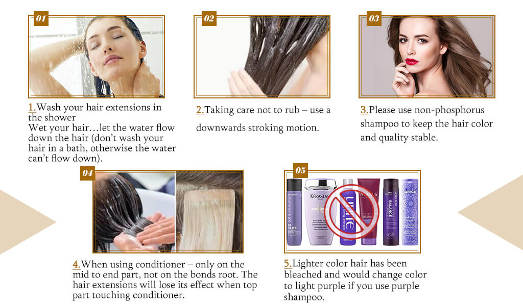 How to washing hair when using hair extensions