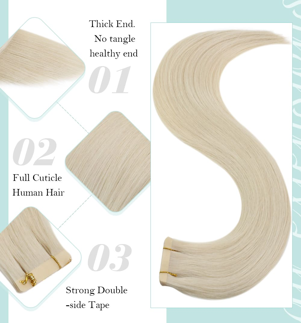 laavoo full cuticle virgin tape in human hair extensions soft and smooth Brazilian virgin human hair